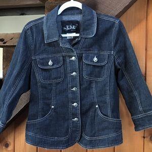 Live A Little Dark Denim Jacket size M